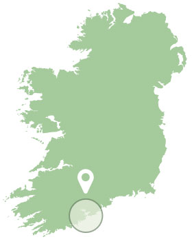 A map of our location in West Cork