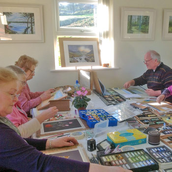 Barry Dawkes, painting weekend tutor - West Cork Watercolour